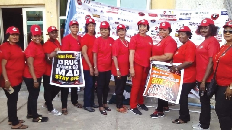 Cross section of participants at the drug walk organised by the Adorable Foundation International (AFI) held in Lagos recently